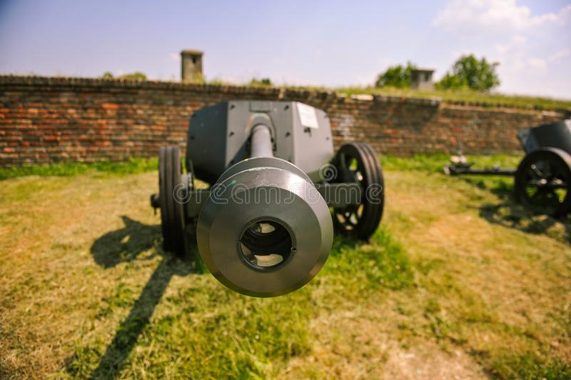 WWI cannon royalty free stock photo