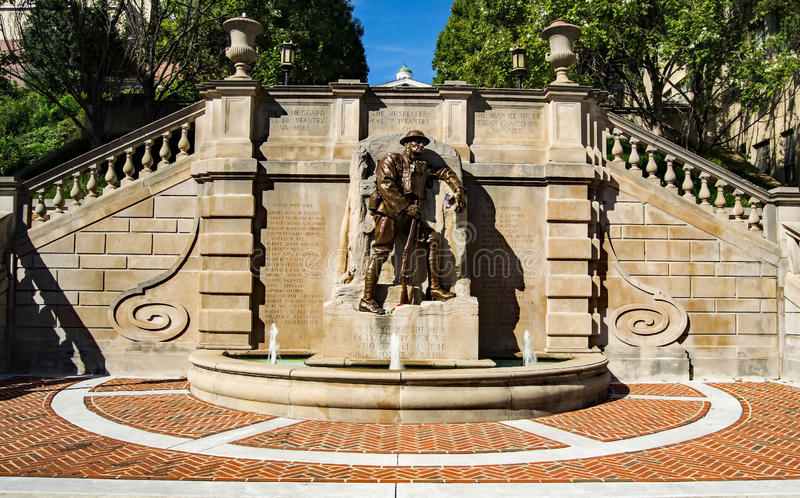 "World War I Monument – Lynchburg, Virginia, USA. Lynchburg, VA – August 17th; The ""World War I Monument"" was erected in 1926. Charles stock photo"
