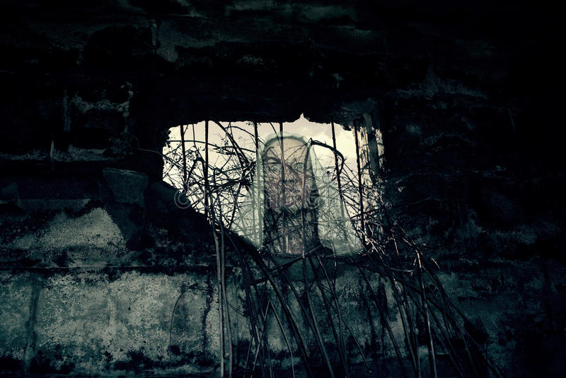 World War II Bunker Ghost. Photo Of World War II Bunker Ghost stock photo