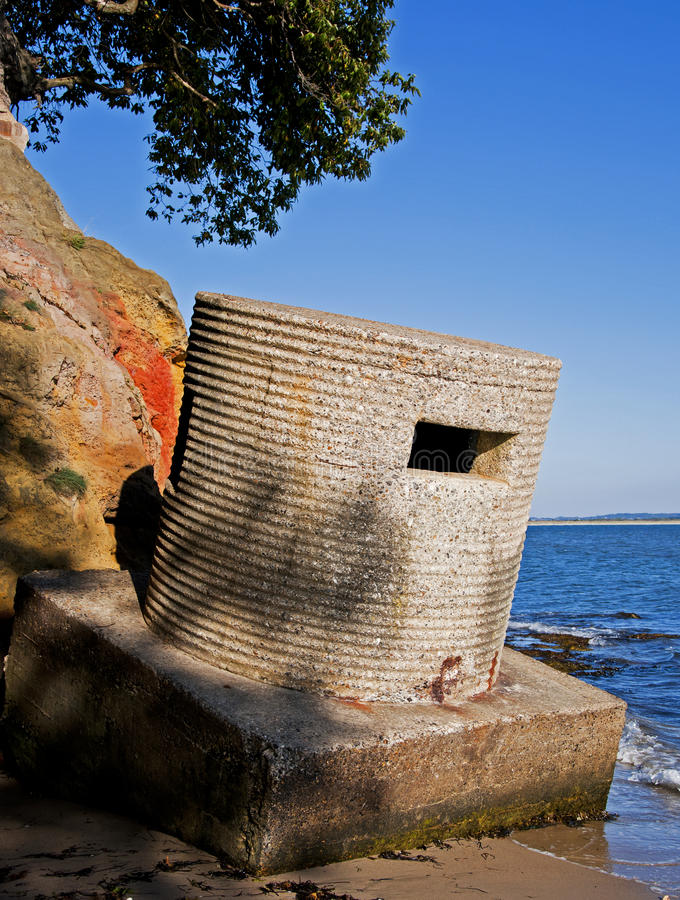 World War II Defences royalty free stock photo