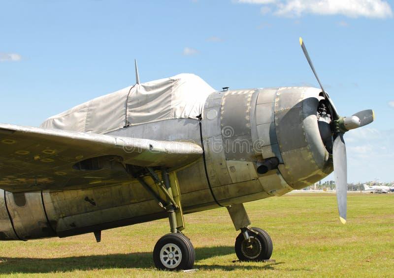 World War II era airplane royalty free stock photos