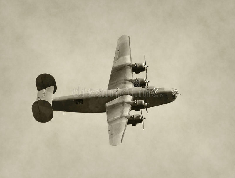 World War II era bomber stock photos