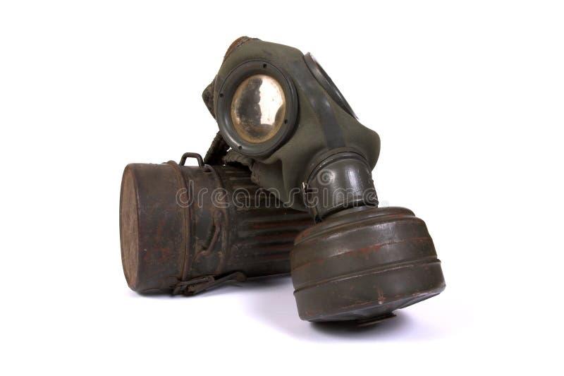 World War II gas mask (3). World War II (German) gas mask on a white background stock images