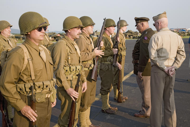 World War II Infantry troops royalty free stock images