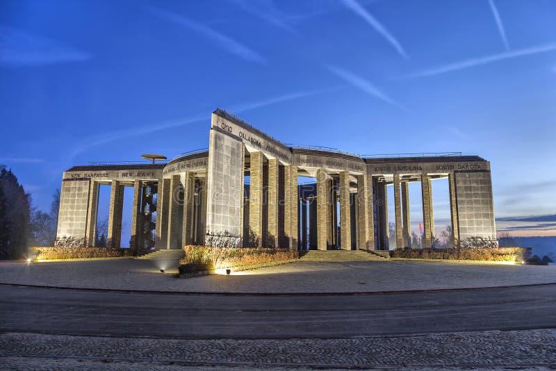 World War II memorial in Bastogne, Belgium stock image