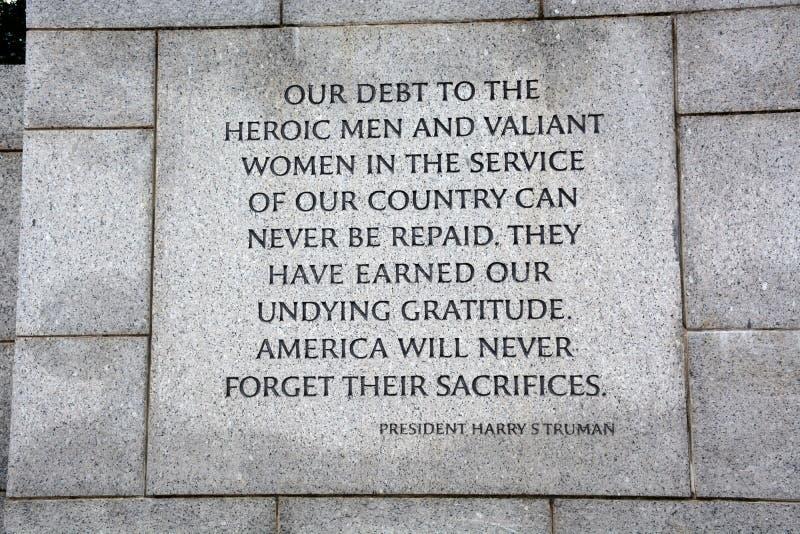 World War II Memorial stock images