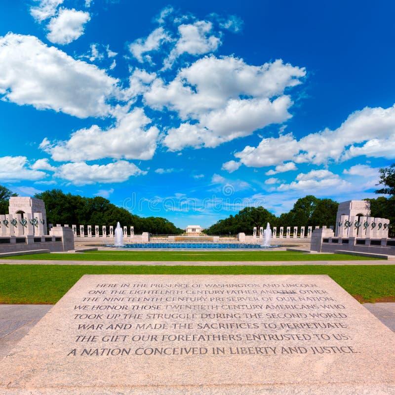 Free World War II Memorial In Washington DC USA Royalty Free Stock Photo - 50740665