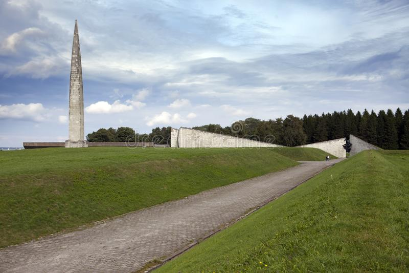World War II Memorial on Mary Hill Maarjamae in the district of Pirita, Tallinn , the capital of Estonia.  stock photos