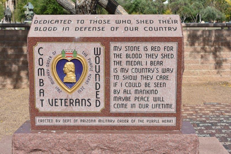 World war II monument. At Arizona State Capital, Phoenix royalty free stock photography