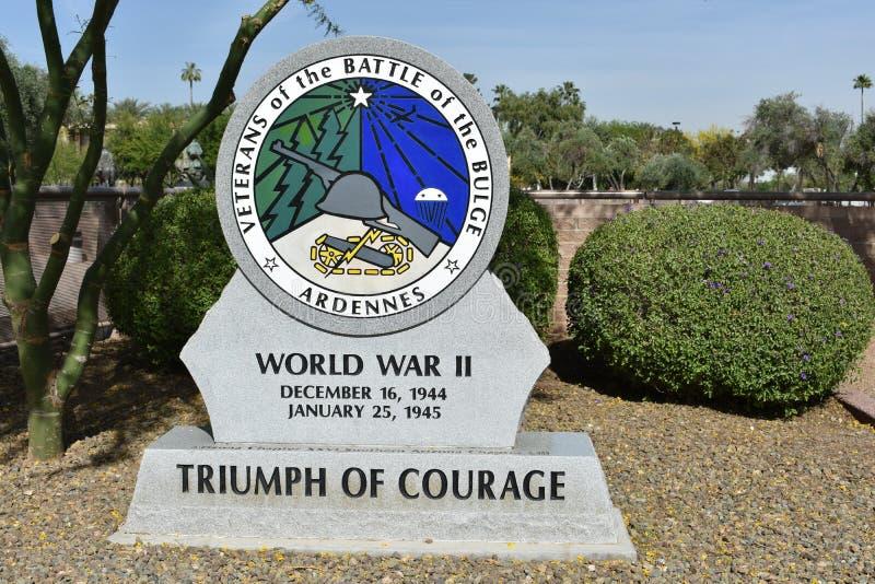 World war II monument. At Arizona State Capital, Phoenix stock photo