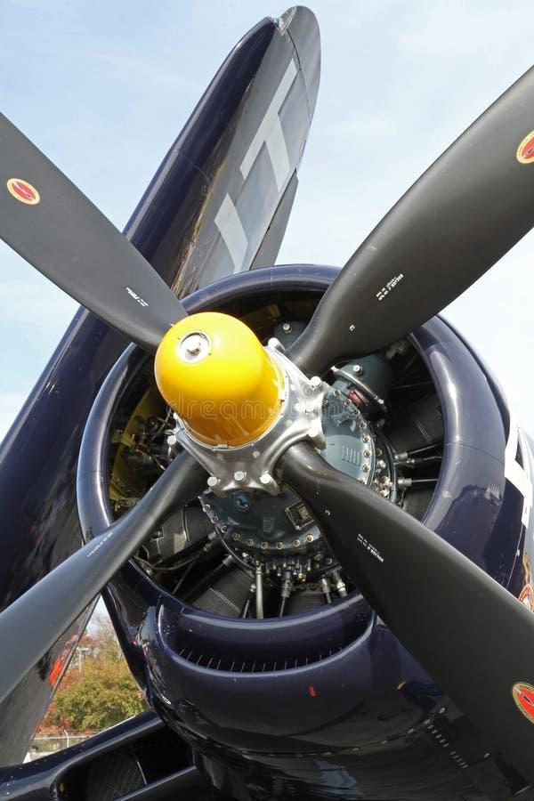 World War II Navy Corsair Fighter Aircraft royalty free stock photography