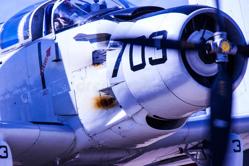 World War II Navy Corsair royalty free stock photos