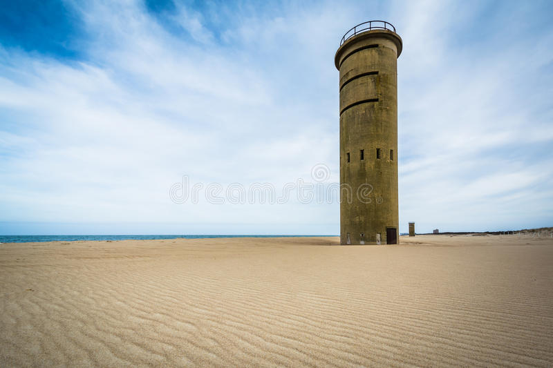 World War II Observation Tower at Cape Henlopen State Park in Re. Hoboth Beach, Delaware stock photo