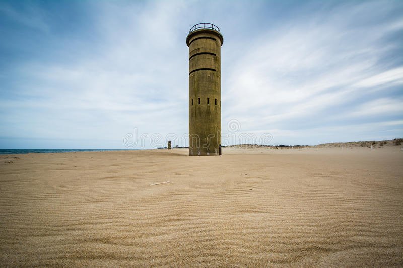 World War II Observation Tower at Cape Henlopen State Park in Re. Hoboth Beach, Delaware stock photography