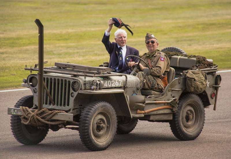 The World War II 75th commemorative parade. stock images