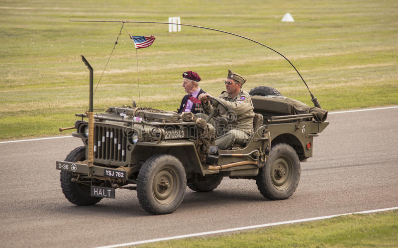 The World War II 75th commemorative parade. royalty free stock images