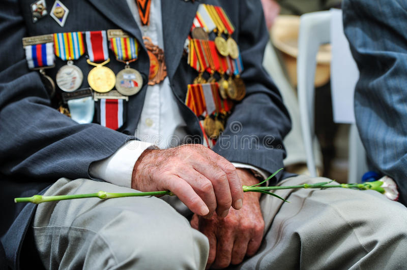 World War II Veterans at the celebration of 9th may royalty free stock photography