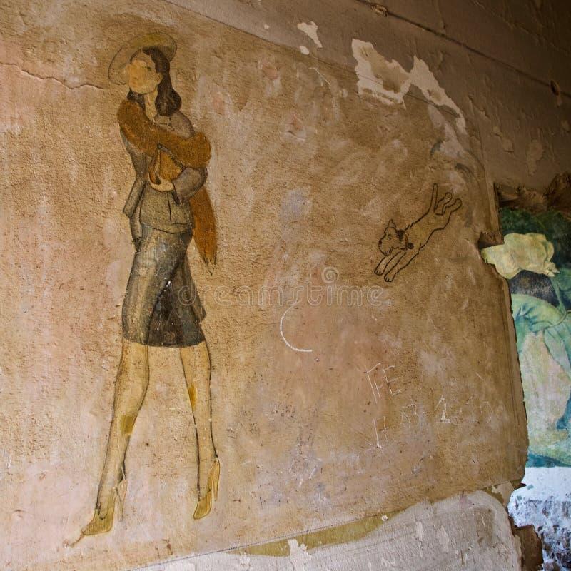 Free World War Ll Retro Art, Diapori, Leros, Greece Royalty Free Stock Images - 154292899