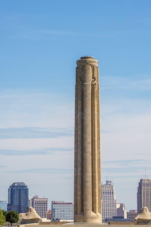 World war one memorial tower stock photo