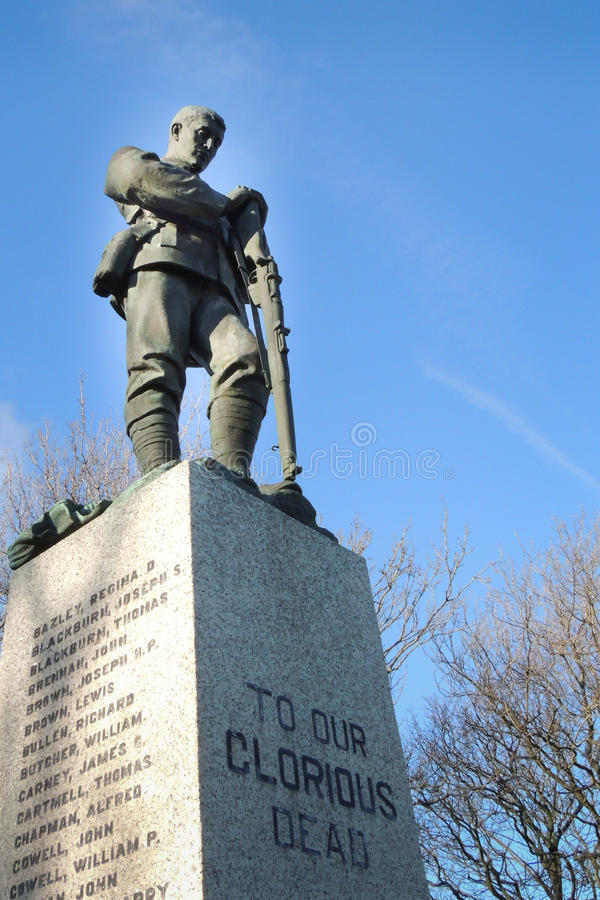 World War One and Two Memorial stock photo