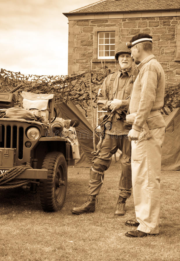 Download World War 2 Soldiers With Jeep Editorial Stock Photo - Image of 1940s, jeep: 33121803