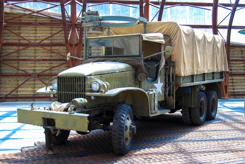 World war two truck. The battle of france D-Day operation overloard. Memorial museum normandy royalty free stock photography
