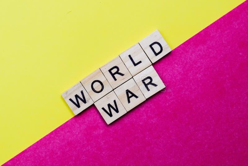 World War. Words on plain background ; World War royalty free stock photos