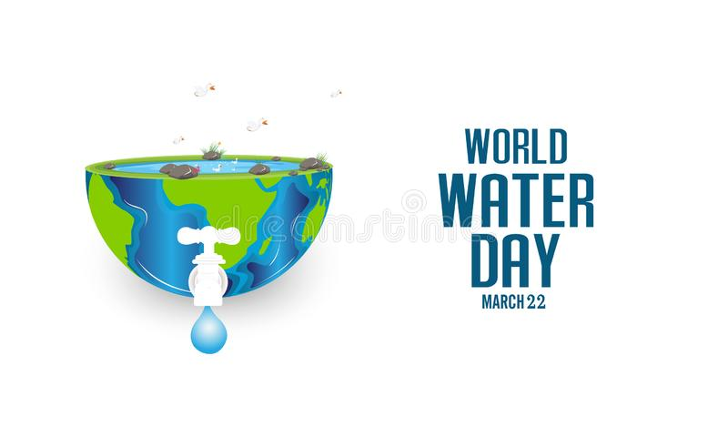 World water day concept. paper art style. Vector illustration - Vector. World water day concept. paper art style. Vector illustration stock illustration