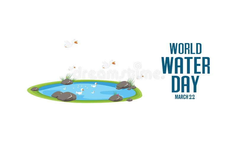 World water day. Ecology concept. Save water concept. paper art style. Vector illustration - Vector. World water day. Ecology concept. Save water concept. paper stock illustration