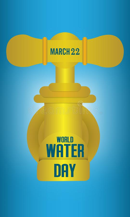 World water day. Ecology concept. Save water concept. Concept vector. Illustration stock illustration