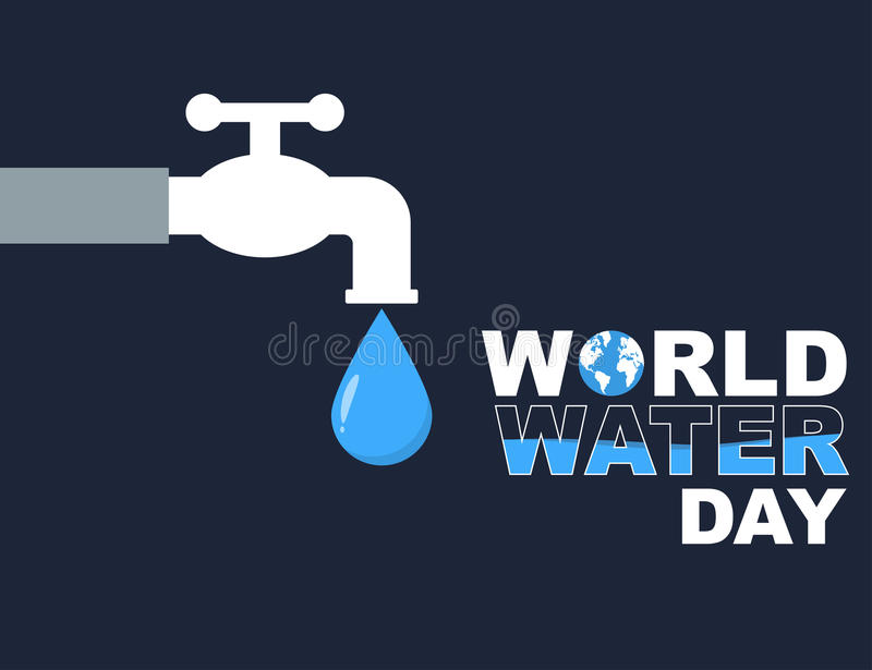 World water day flat style poster vector illustration