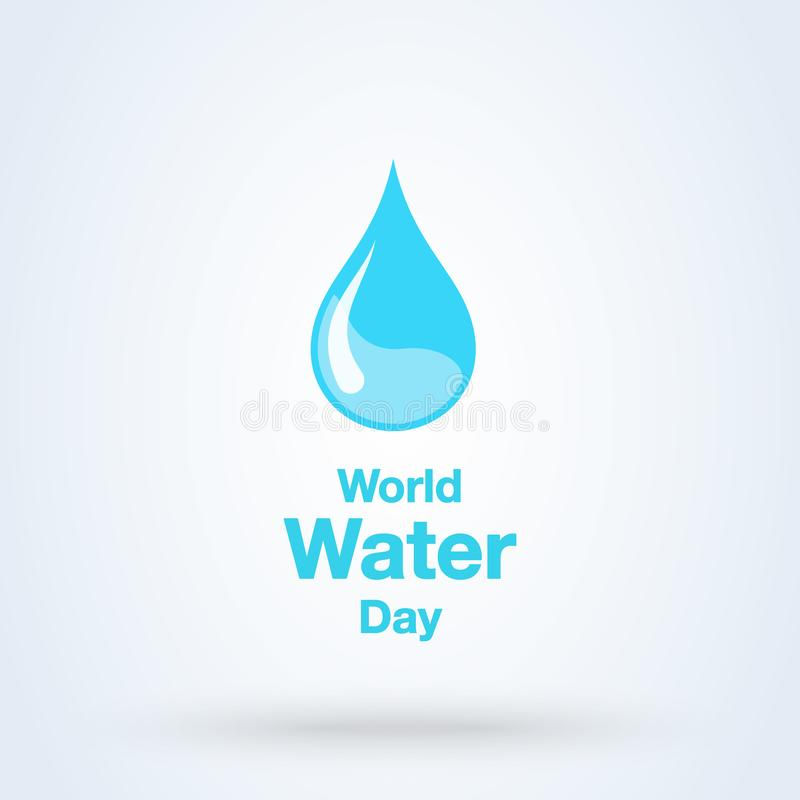 Free World Water Day Greeting. Vector Abstract Waterdrop Concept Stock Photo - 154754310
