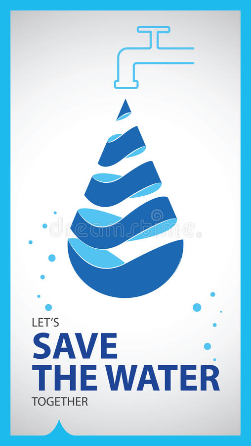 World water day poster vector illustration