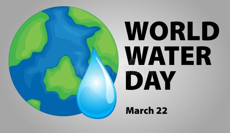 World water day poster design stock illustration
