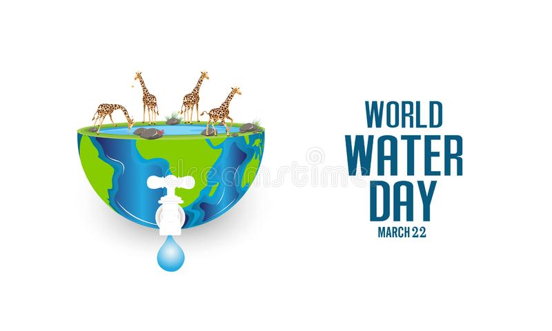 World Water Day - vector abstract water drop concept. Save the water - ecology concept. World Water Day - vector abstract water drop concept. Save the water vector illustration