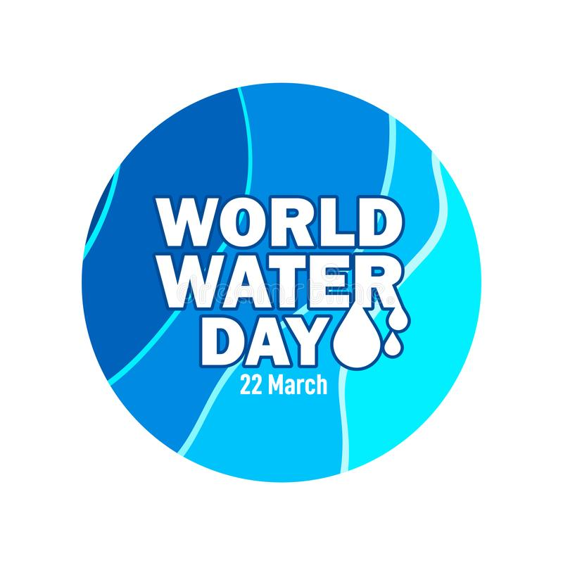 World Water Day Vector Template Design Illustration. Save concept drop paper earth ecology nature environment campaign environmental conservation craft poster vector illustration