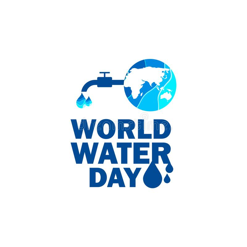 World Water Day Vector Template Design Illustration. Save concept drop paper earth ecology nature environment campaign environmental conservation craft poster stock illustration