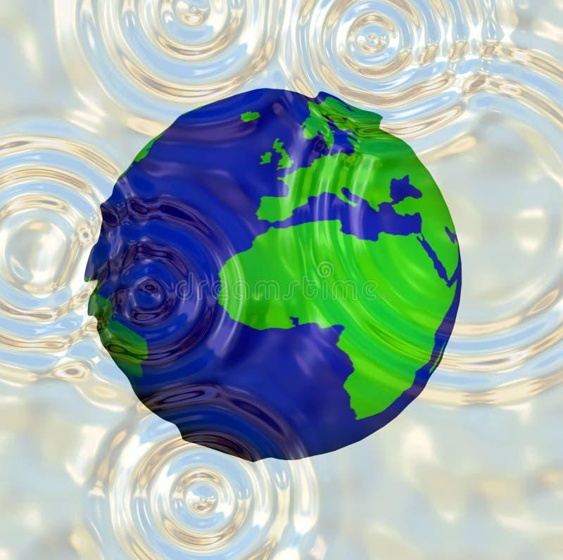 Download World Water Ripple stock illustration. Illustration of aerial - 568735