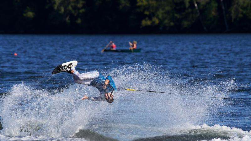 World Water Ski Show Tournament in Ontario, Canada on September 8, 2018 stock photo