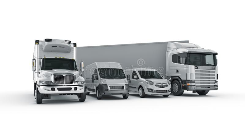 World wide cargo transport concept. 3d rendering stock illustration