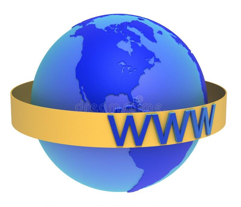 World Wide Web ilustración del vector