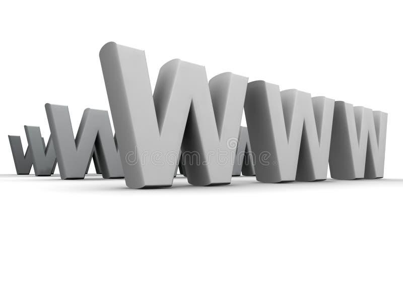 World Wide Web illustrazione di stock