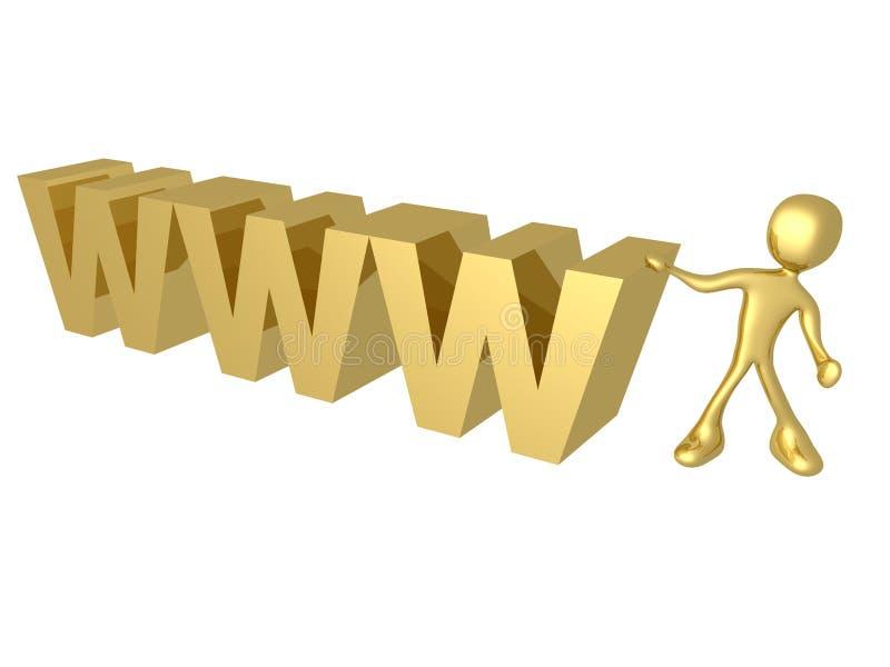 World Wide Web royalty-vrije illustratie