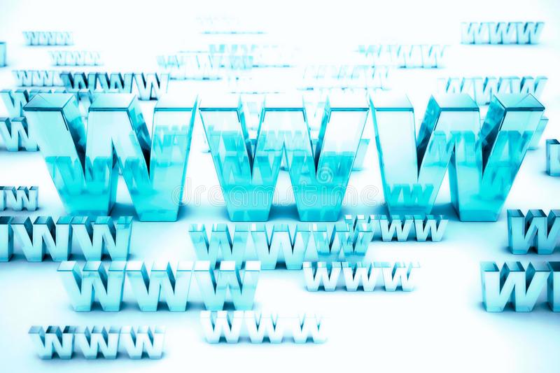 World wide web royaltyfri illustrationer