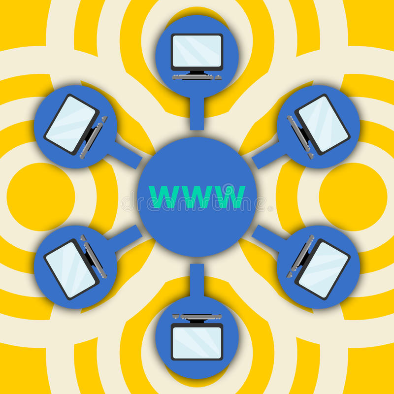 World wide web ilustração royalty free