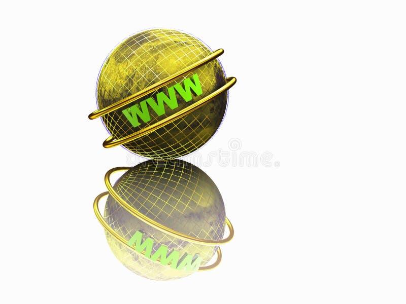 World Wide Web 3d illustrazione vettoriale