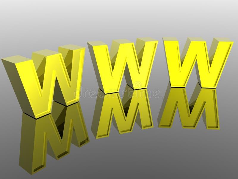 World Wide Web 3d ilustración del vector