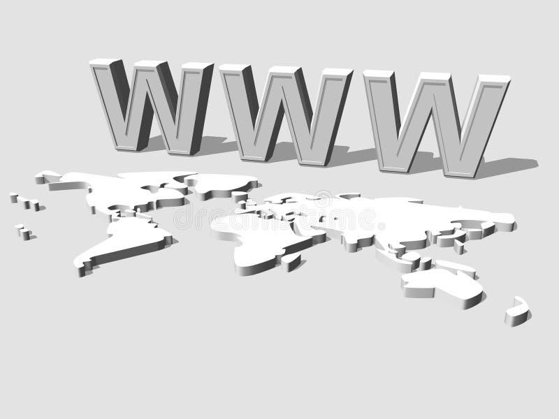 World Wide Web 3d ilustração stock