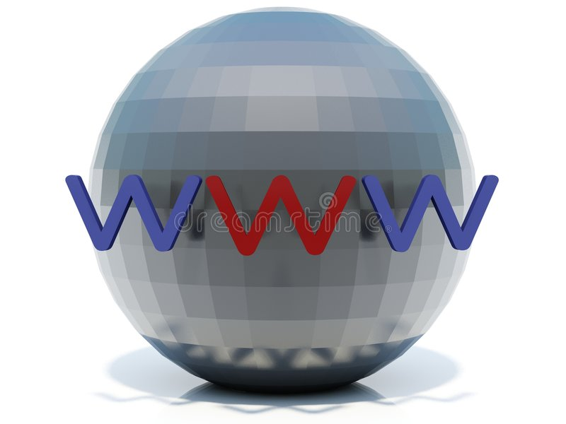 World wide web. On sphere stock illustration