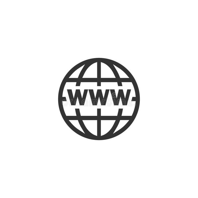 World Wide Web icon flat stock illustration